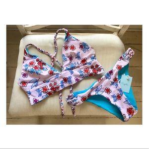 NWT Cupshe Floral Bikini